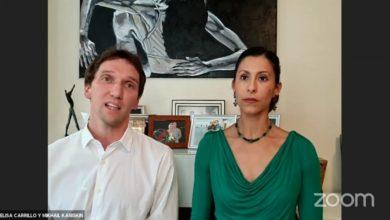 Elisa Carrillo y esposo