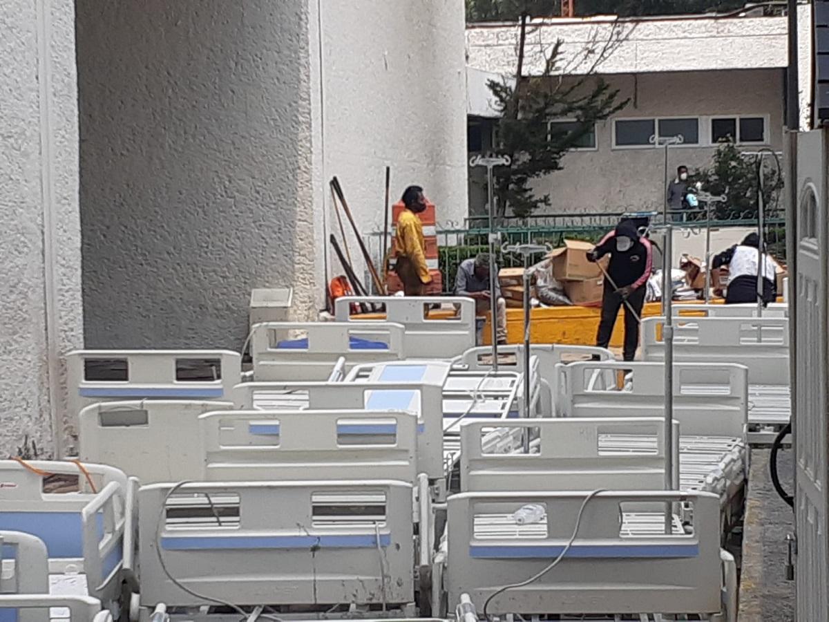 Hospital inundado en Atizapán