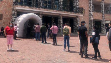 El túnel sanitizante en Tecámac